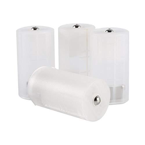 Richer-R 4pcs AA auf D Batterie Adapter, 4 Stücke Universal AA zu Größe D Adapter Batteriehalter Case,Umweltfreundlich Battery Converter Adapter Switcher Kasten Box für Elektronik Notfallsituationen
