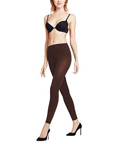 FALKE Damen Leggings Pure Matt 100 Denier - Blickdicht, Matt, 1 Stück, Braun (Brenda 5179), Größe: XL
