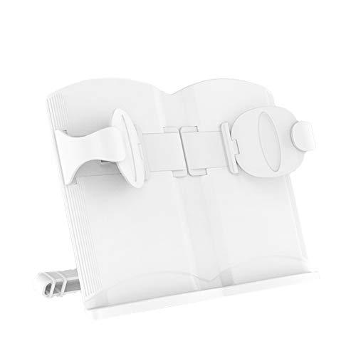 Artispro 多機能ブックスタンド 筆記台 書見台 タブレット/携帯適用 卓上用 滑り止め 折りたたみ式 メタル製 在宅勤務 ホワイト
