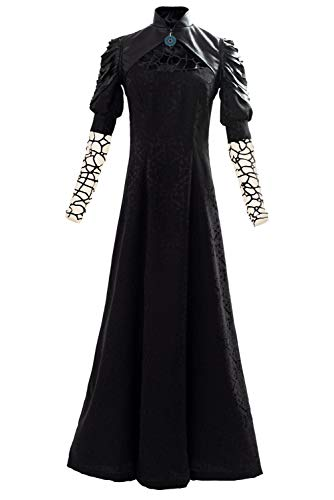 Bilicos Hexer Yennefer Party Vestido Largo Negro Traje Cosplay Disfraz Mujeres XXXL