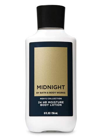 Bath & Body Works Midnight Men's Collection 24 Hours Moisture Body Lotion, 8 Fluid Ounce