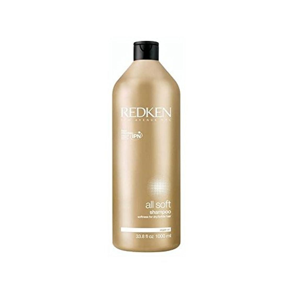 ペインティング媒染剤ビュッフェすべてのソフトシャンプー千ミリリットルをレッドケン x4 - Redken All Soft Shampoo 1000ml (Pack of 4) [並行輸入品]