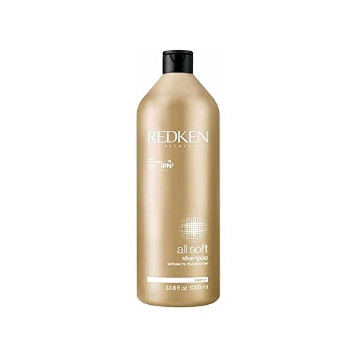 とミネラル土すべてのソフトシャンプー千ミリリットルをレッドケン x2 - Redken All Soft Shampoo 1000ml (Pack of 2) [並行輸入品]