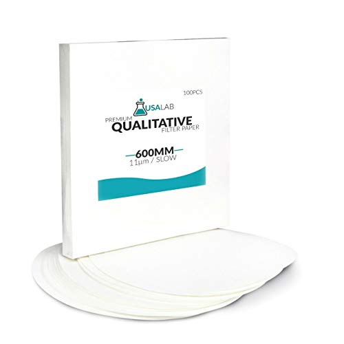 USA Lab Qualitative Filter Paper - Medium 11um Micron - Various Sizes (22cm - 8.66