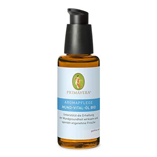 PRIMAVERA Aromapflege Mund-Vital-Öl bio 50 ml - Mundöl, Aromatherapie, ätherische Öle - Erhaltung der Mundgesundheit, Beruhigung von strapaziertem Zahnfleisch - vegan