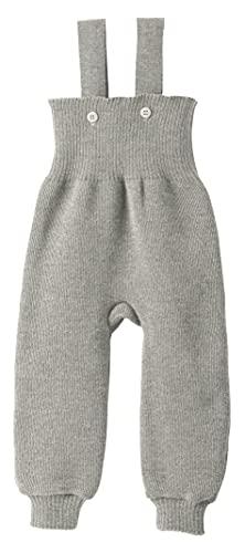 Disana Gestrickte Hose mit Hosenträgern aus Wolle. grau, 33110XX Gr. 86 cm/92 cm, grau