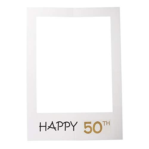 Amosfun 2 cornici per selfie per 50° compleanno, per feste di compleanno, foto e cabina