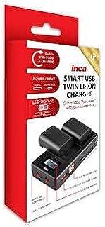 INCA Charger USB Twin Sony NP-FH FV int USB Cord Input Micro&TypeC Port LCD/Powerbank