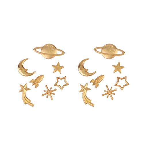 Healifty 35St Antieke Gouden Bedels Sieraden Maken Charmes Ster Maan Bedels Voor Ketting Armband Oorbellen Diy Ambachtelijke