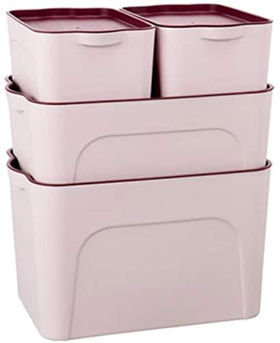 LHYLHY Unbekannt Vierteilige Kunststoff-Aufbewahrungsbox Aufbewahrungsbox Für Kleidung Desktop-Fertigbox Snack-Spielzeug-