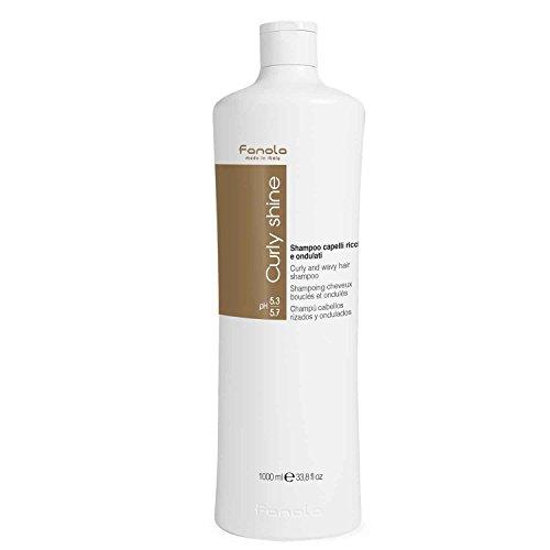 Fanola Champú CURLY SHINE Rizados Ondulados 1000mL 1L - Especial cabellos rizados ondulados