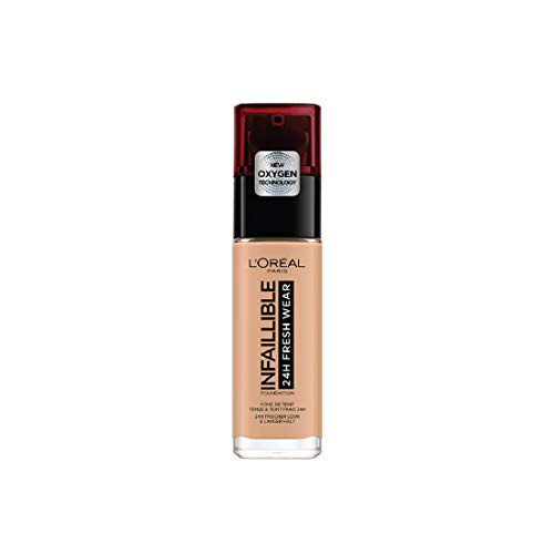 L'Oréal Paris Make-up designer24H Fresh Wear Base de Maquillaje de Larga Duración , Tono 235 Miel/Honey- 30 ml