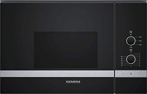 Micro ondes Encastrable Siemens BF550LMR0 - Micro-Ondes Integrable Noir et inox - 25 litres - 900 Watts