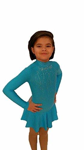 Eiskunstlaufbekleidung für Kinder und Erwachsene (Bordorot, Größe: M/ Größe EUR: 42-44/ Größe UK: 12-14)