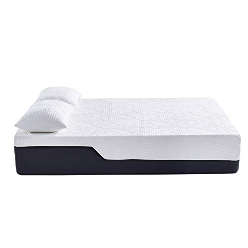 Classic Brands Cool 2.0 Ultimate Gel Memory Foam 14-Inch 2 Bonus Pillow Mattress, King, White