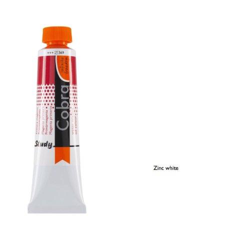 Talens COBRA Study wasservermalbare Ölfarbe, 40 ml, 104 Zinkweiß