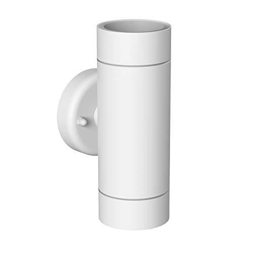 ledscom.de Luz de pared WEDO para el exterior, acero inoxidable blanco IP44...