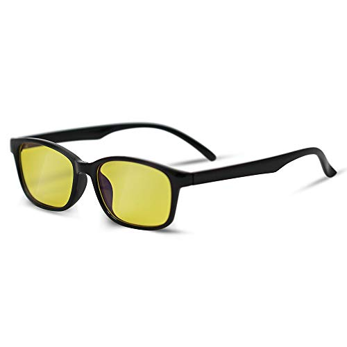 Blue Blocking Glasses: Great for Gamers, Workaholics, Computer Junkies, and Late Night TV Addicts, Amber-Tinted Lenses, Stylish Frames, Blue-Blocking Glasses Help to Fight Eye Strain and Fatigue