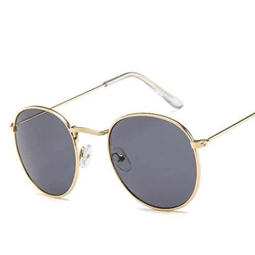 BAYSU Gafas de Sol Negro Retro Atractivo Lindo Oval Gafas de Sol de Las Mujeres de Oro a pequeña Retro de los vidrios de Sun Gafas Rojas Femenino for Las Mujeres Gafas de Controladores Gafas de Sol