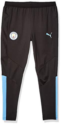 PUMA Arsenal FC Trainingshose für Herren, Herren, Unterhose, Manchester City MCFC Training Pants, Puma Schwarz/Team Hellblau, 3X-Large