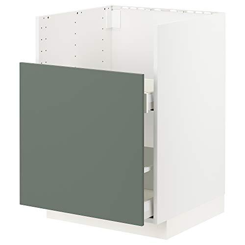 METOD/MAXIMERA bc f BREDSJÖN snk/1 frnt/2 drws 60x61.6x88 cm blanco/Bodarp gris-verde