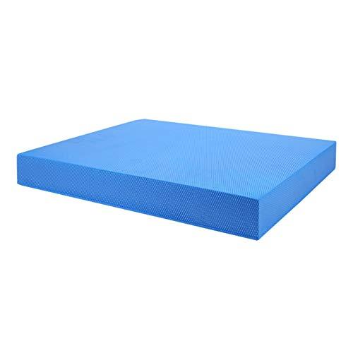 DAUERHAFT Colchoneta de Entrenamiento de Yoga Ligero Resistente al Desgaste Buena Elasticidad Antideslizante Cojines Suaves equilibrados, para Gimnasio(Blue, Large)