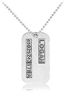 Wolverine X-Men James Logan Origins ID Tag Army US Military Chain Pendant Necklace.