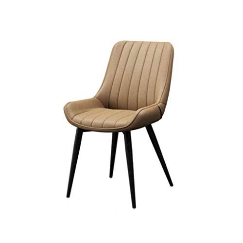 LYN QWER barkruk, bureaustoel zwart metalen frame lederen zitting met rugleuning zonder armleuning voor cafés vergaderruimte