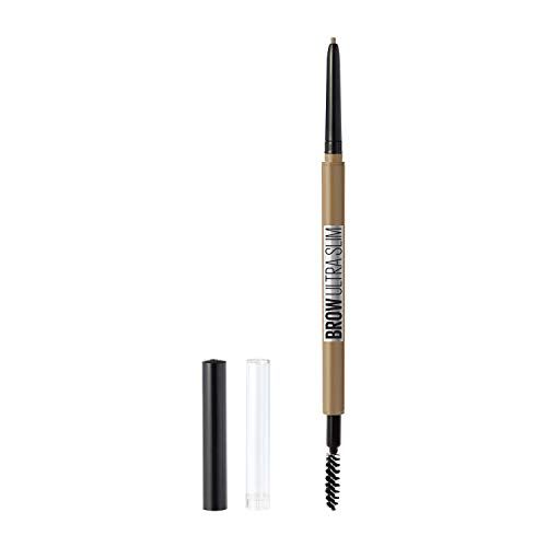Maybelline Brow Ultra Slim Defining Eyebrow Makeup Mechanical Pencil with 1.55 MM Tip & Blending Spoolie For Precisely Defined Eyebrows, Blonde, 1 Count