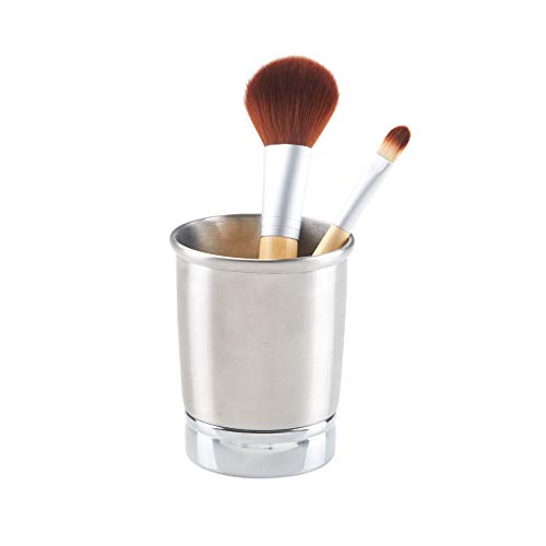 Price comparison product image iDesign York Metal Toothbrush Holder / Stand for the Bathroom,  Made of Stainless Steel,  Split Finish