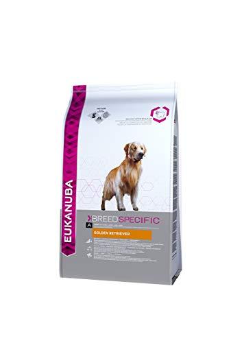 Eukanuba Breed Specific Golden Retriever Trockenfutter - optimal auf die Rasse abgestimmtes Premium Hundefutter mit Huhn, 12 kg