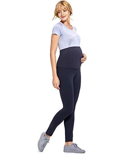 Gratlin Donna Leggings Premaman Lungo Maternità Capri Pannello Elastico Blu navy XL