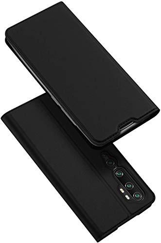 DUX DUCIS Xiaomi Mi Note 10 Hülle, Xiaomi Mi Note 10 Pro Hülle, Leder Flip Handyhülle Schutzhülle Tasche Hülle für Xiaomi Mi Note 10 / Note 10 Pro (Schwarz)