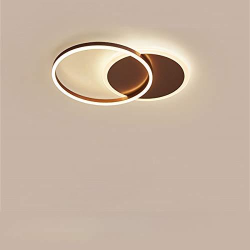 LED Lámpara de techo Forma de Anillo creativa Luz de techo Pantalla de aluminio acrílico moderna y elegante, blanca mate Luz de techo Dormitorio, Regulable 3000~6000K