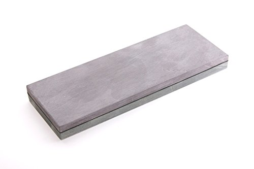 Schleifstein Natur Kombistein Belgischer Brocken 6000 und Pyrenäen Stein 1200, Grösse 200x60x20 mm Messer-Schärfer mit Anreibestein 60x30x20 mm