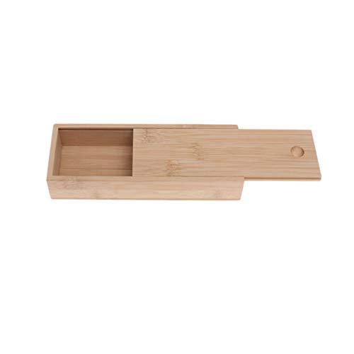 Supvox Scatola per matite in legno con coperchio scorrevole per utensili e pennelli - 7 4 x 2 8 x 1 2 pollici rettangolare