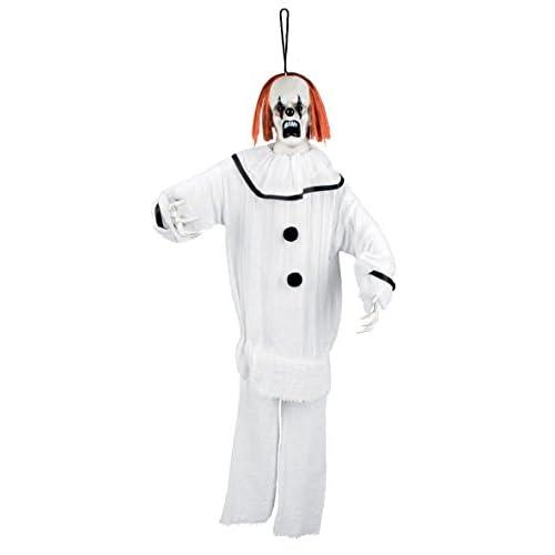 Boland- Decorazione Psycho Clown, Bianco, 90 cm, 72113
