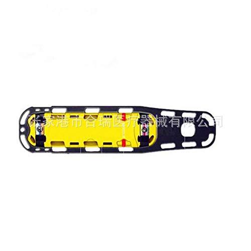 MEIGONGJU Multifunktionale Spineboard mit Kopfhalter, Wasserrettungsplatte, Rettungsplatte, Kunststoff ausgestattet Werden Bahre