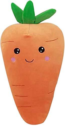 YUY Juguetes de Peluche de Animales de Peluche 1 Pieza Grande y Creativo Juguete de Peluche de Zanahoria muñeca de Zanahoria rellena súper Suave con cojín de Almohada de algodón de 55 cm-55cm