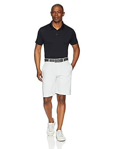 Amazon Essentials Slim-Fit Quick-Dry Golf Polo Shirt, Nero (Black), Medium (Taglia Produttore:):)