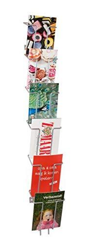 6 Fach Wand Postkartenständer Metall DIN A6 / Prospekthalter Flyer-Ständer Werbung Aufsteller