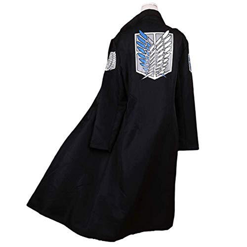 Zhangjianwangluokeji Japan Anime Shingeki Keine Kyojin Mantel Angriff Titan Cosplay Hoodie Zipper Jacke (XL, Schal 1)