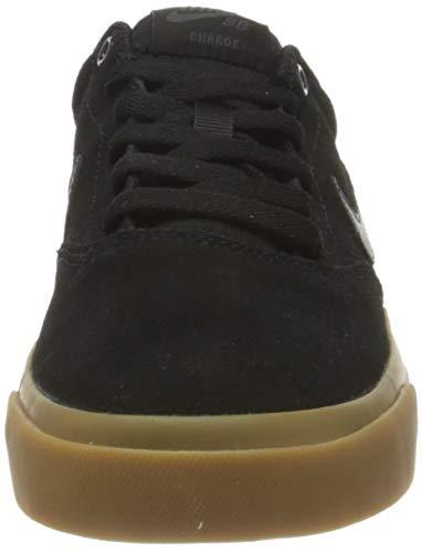 NIKE SB Charge Suede, Gymnastics Shoe Hombre, Negro/Anthracite Gum Light Brown, 41.5 EU