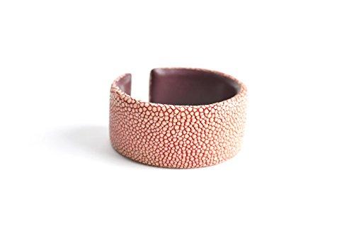 Damen Armband 'Gigi' Rochenleder Armreifen rosa lila Arm-Reif Armspange pink Armschmuck für Frauen