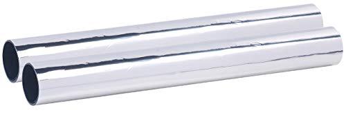 infactory UV Folie: 2er-Set Selbsthaftende Isolier-Spiegelfolie, Sicht-/UV-Schutz, 40 cm (Sonnenschutz Fenster)