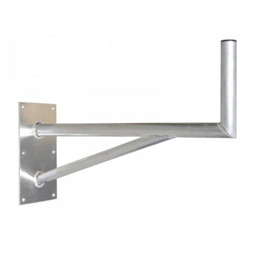 PremiumX 80cm SAT Halterung mit Stützelement Aluminium Auslegerlänge 800mm Auslegerhöhe 300mm Grundplatte 400x200mm Wand Montage Halter Wandhalter