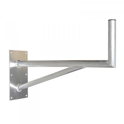 PremiumX 80cm SAT Halterung mit Stützelement ALU Auslegerlänge 800mm Auslegerhöhe 300mm Grundplatte 400x200mm Wand Montage Halter Wandhalter