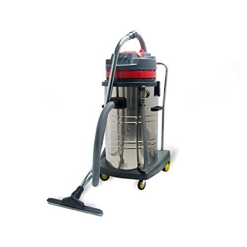 Commercieel stofzuiger/huisstofzuiger, dry & wet & blowing, 3000 W hoog vermogen, 80 l grote capaciteit, 8 m netsnoer, geschikt voor magazijn/werkplaats/Mall/woonkamer