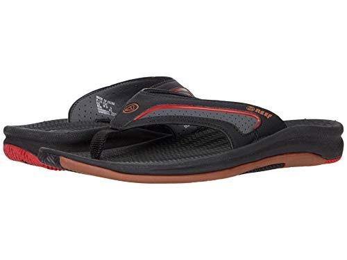 Reef Men's Sandals | Flex, Black Gum/Red, 10