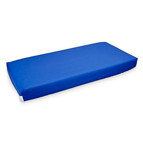 PROCAVE wasserdichtes Spannbettlaken in blau, atmungsaktiv und abwischbar, pflegeleichter Matratzenschoner, Made in Germany, in 90x200 cm